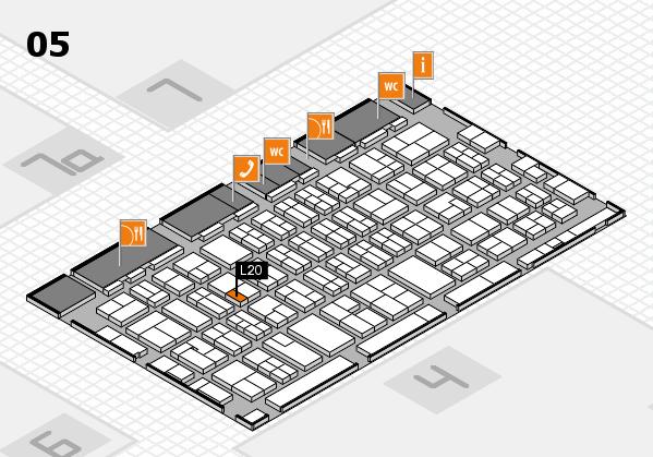 MEDICA 2017 hall map (Hall 5): stand L20