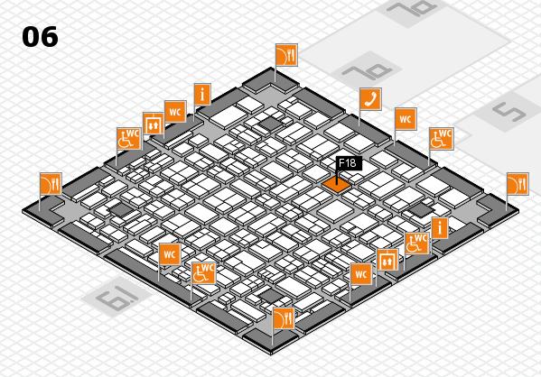 MEDICA 2017 hall map (Hall 6): stand F18