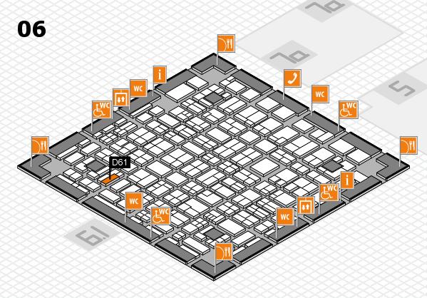 MEDICA 2017 hall map (Hall 6): stand D61
