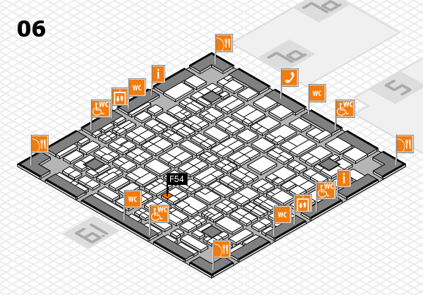 MEDICA 2017 hall map (Hall 6): stand F54
