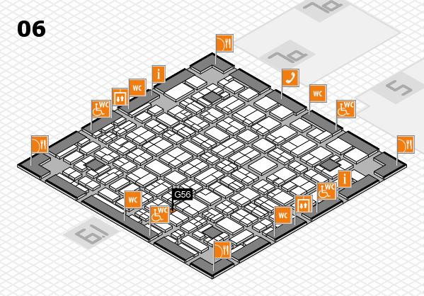 MEDICA 2017 hall map (Hall 6): stand G56