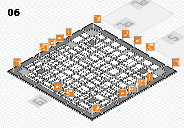 MEDICA 2017 hall map (Hall 6): stand H54, stand H56