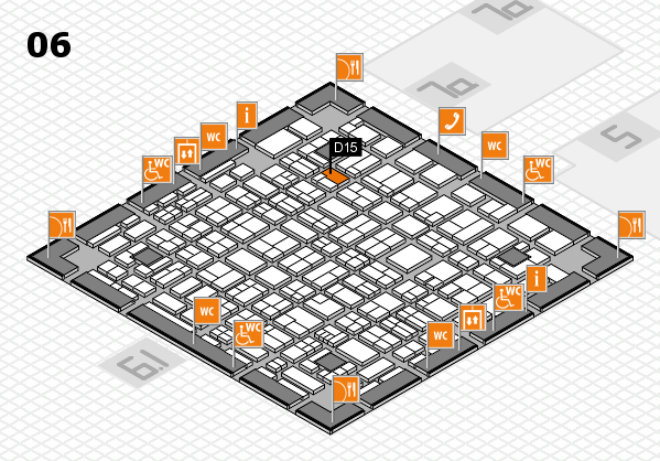 MEDICA 2017 hall map (Hall 6): stand D15