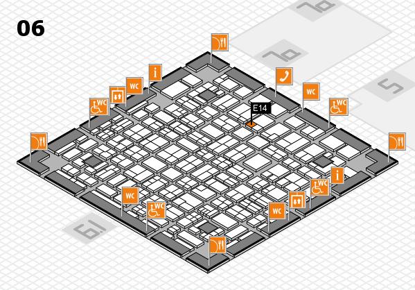 MEDICA 2017 hall map (Hall 6): stand E14