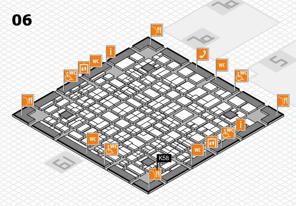 MEDICA 2017 hall map (Hall 6): stand K58