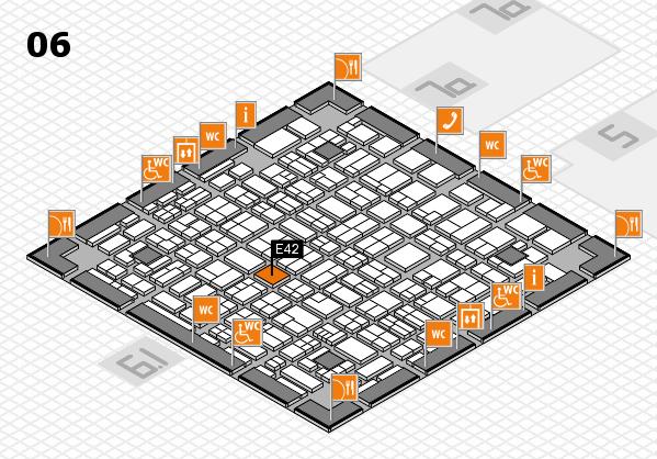 MEDICA 2017 hall map (Hall 6): stand E42
