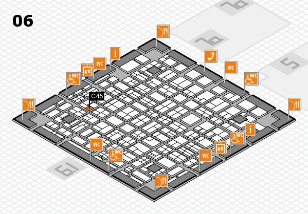 MEDICA 2017 hall map (Hall 6): stand C45