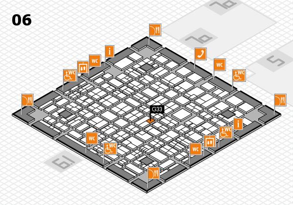 MEDICA 2017 hall map (Hall 6): stand G33