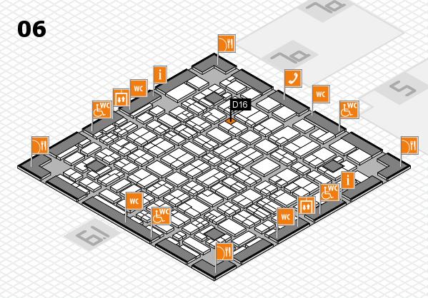 MEDICA 2017 hall map (Hall 6): stand D16