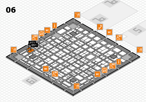 MEDICA 2017 hall map (Hall 6): stand A52, stand B51