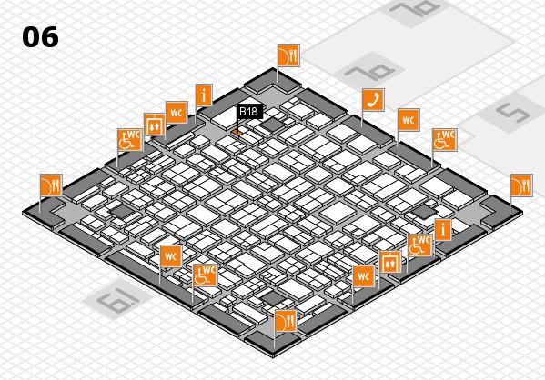 MEDICA 2017 hall map (Hall 6): stand B18