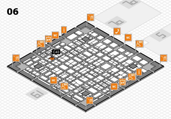 MEDICA 2017 hall map (Hall 6): stand C43