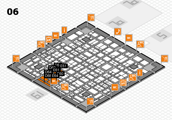 MEDICA 2017 hall map (Hall 6): stand D54, stand E64