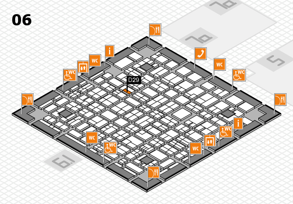 MEDICA 2017 hall map (Hall 6): stand D29