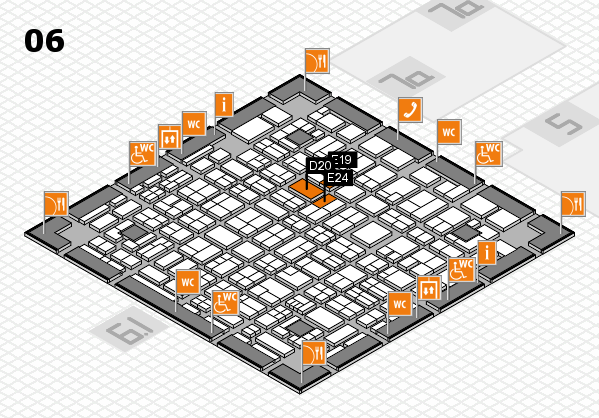 MEDICA 2017 hall map (Hall 6): stand D20, stand E24