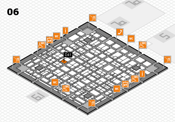 MEDICA 2017 hall map (Hall 6): stand D41