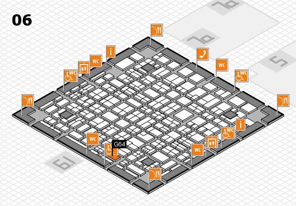 MEDICA 2017 hall map (Hall 6): stand G64