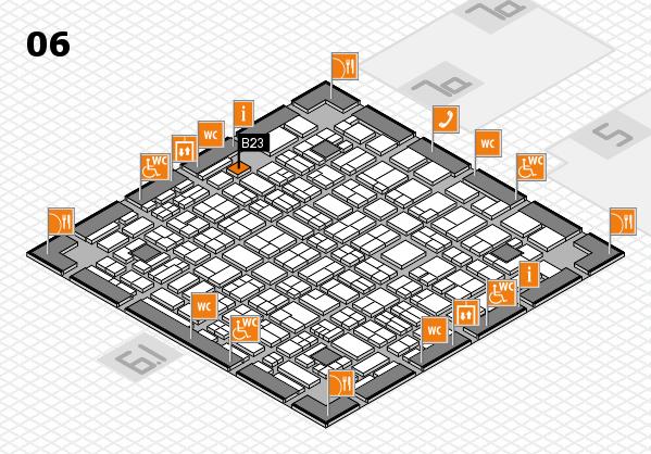 MEDICA 2017 hall map (Hall 6): stand A23