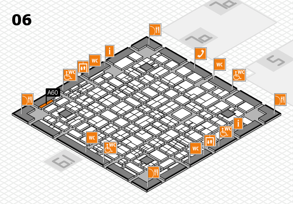 MEDICA 2017 hall map (Hall 6): stand A60