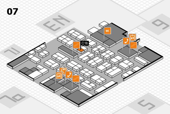 MEDICA 2017 hall map (Hall 7): stand C18