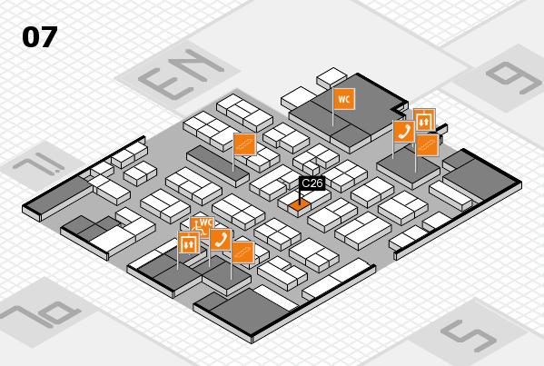 MEDICA 2017 hall map (Hall 7): stand C26