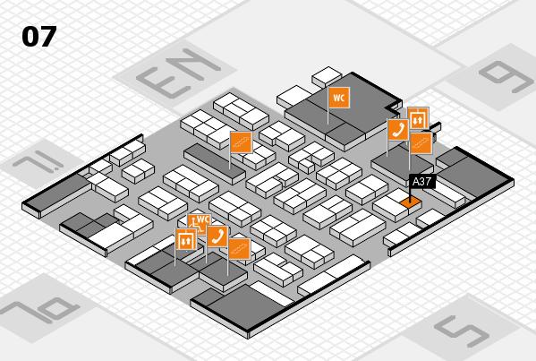 MEDICA 2017 hall map (Hall 7): stand A37