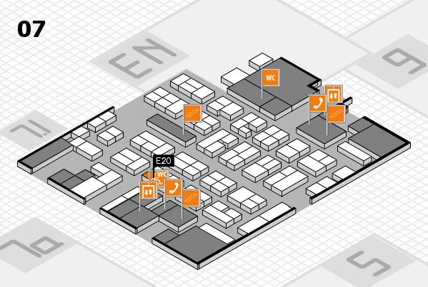 MEDICA 2017 hall map (Hall 7): stand E20