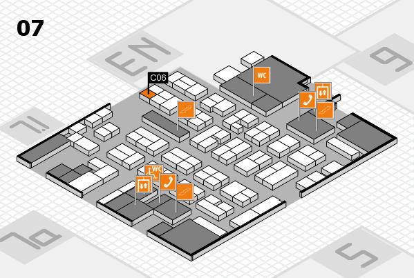 MEDICA 2017 hall map (Hall 7): stand C06