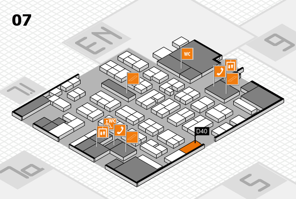 MEDICA 2017 hall map (Hall 7): stand D40