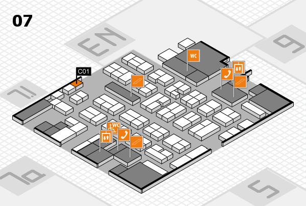MEDICA 2017 hall map (Hall 7): stand C01