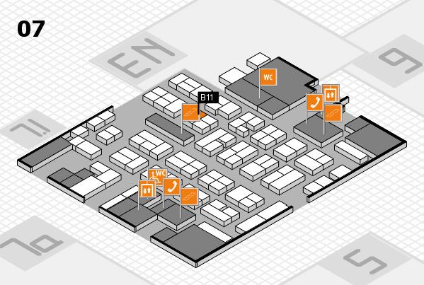 MEDICA 2017 hall map (Hall 7): stand B11