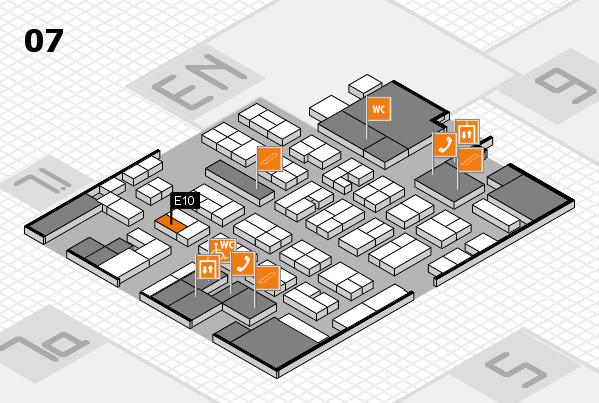 MEDICA 2017 hall map (Hall 7): stand E10