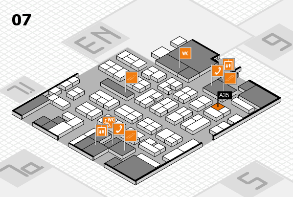 MEDICA 2017 hall map (Hall 7): stand A35