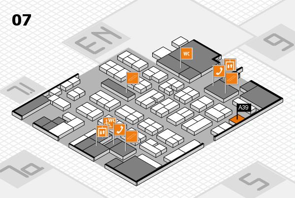 MEDICA 2017 hall map (Hall 7): stand A39