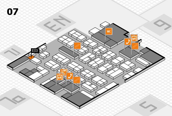 MEDICA 2017 hall map (Hall 7): stand E03