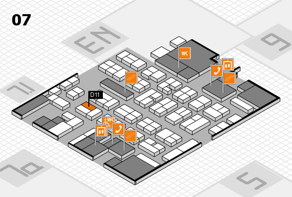 MEDICA 2017 hall map (Hall 7): stand D11