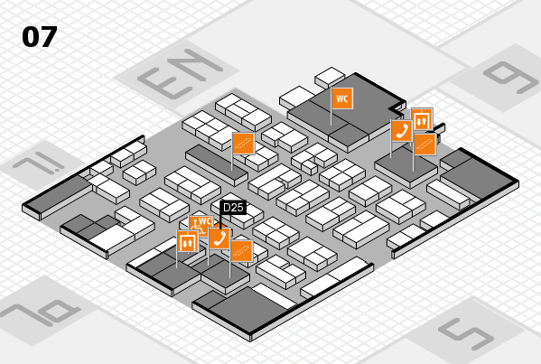 MEDICA 2017 hall map (Hall 7): stand D25