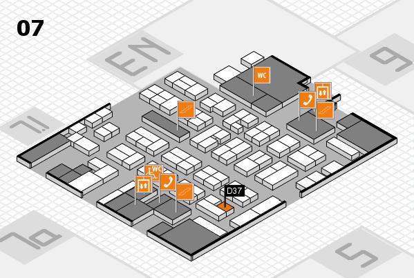 MEDICA 2017 hall map (Hall 7): stand D37