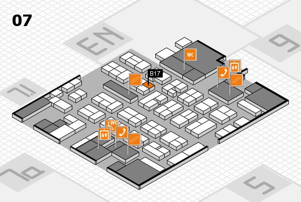 MEDICA 2017 hall map (Hall 7): stand B17
