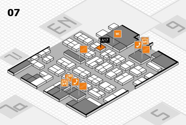 MEDICA 2017 hall map (Hall 7): stand A17