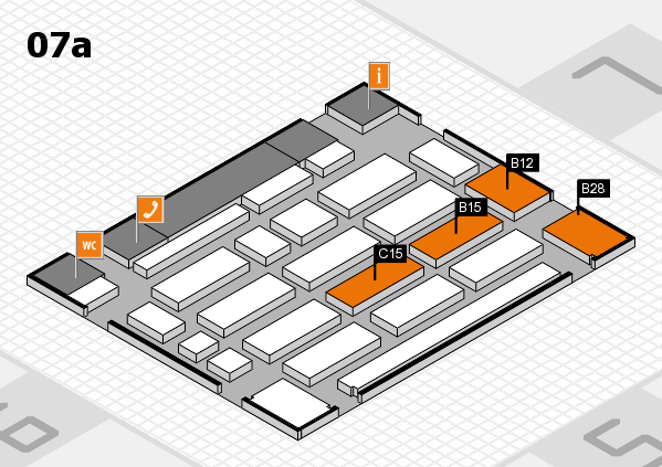 MEDICA 2017 Hallenplan (Halle 7a): Stand B12, Stand C15