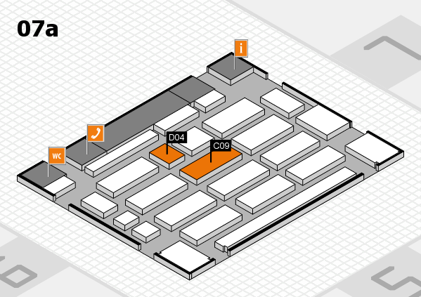 MEDICA 2017 hall map (Hall 7a): stand C09, stand D04