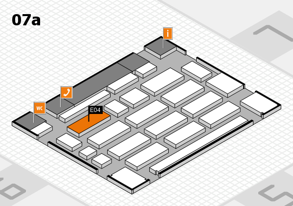 MEDICA 2017 hall map (Hall 7a): stand E04