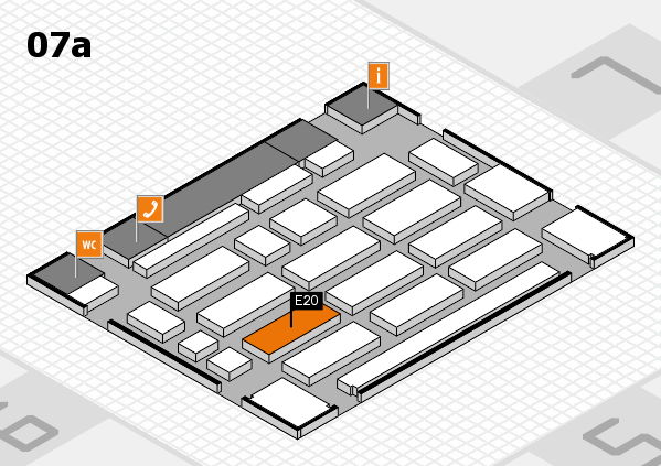 MEDICA 2017 Hallenplan (Halle 7a): Stand E20