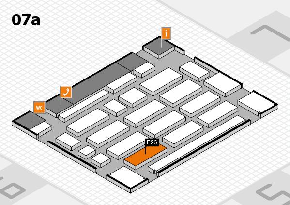 MEDICA 2017 hall map (Hall 7a): stand E26