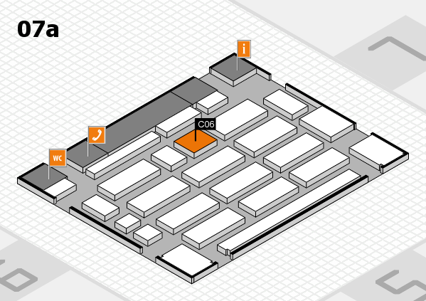 MEDICA 2017 hall map (Hall 7a): stand C06