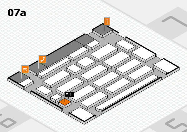 MEDICA 2017 hall map (Hall 7a): stand E07