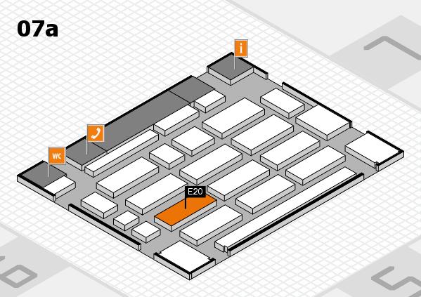 MEDICA 2017 Hallenplan (Halle 7a): Stand E01