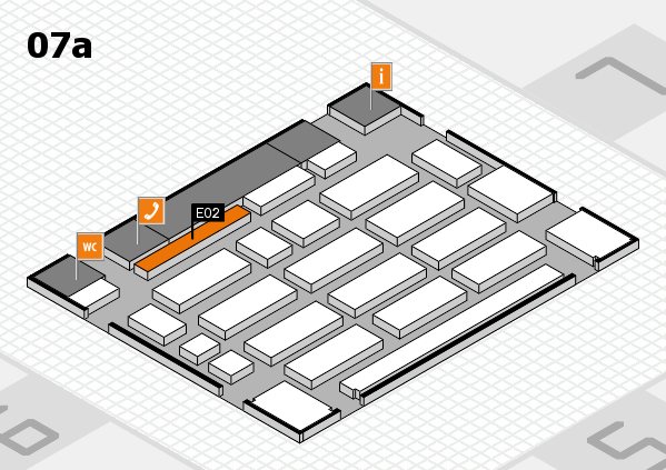 MEDICA 2017 hall map (Hall 7a): stand E01