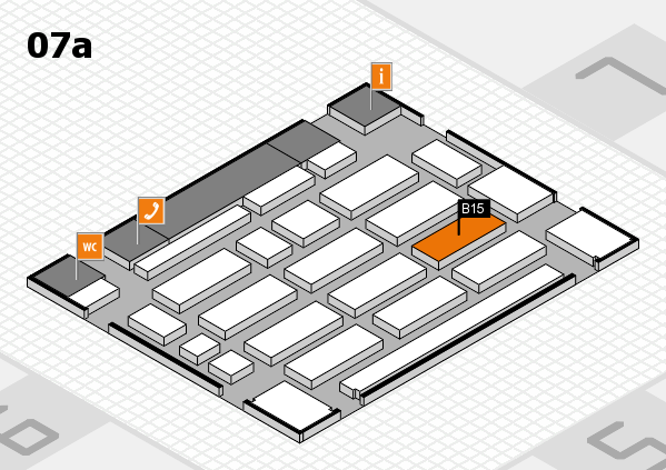 MEDICA 2017 hall map (Hall 7a): stand B15
